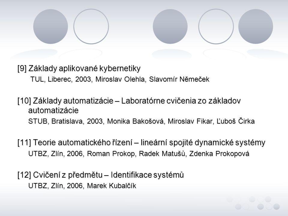 [9] Základy aplikované kybernetiky